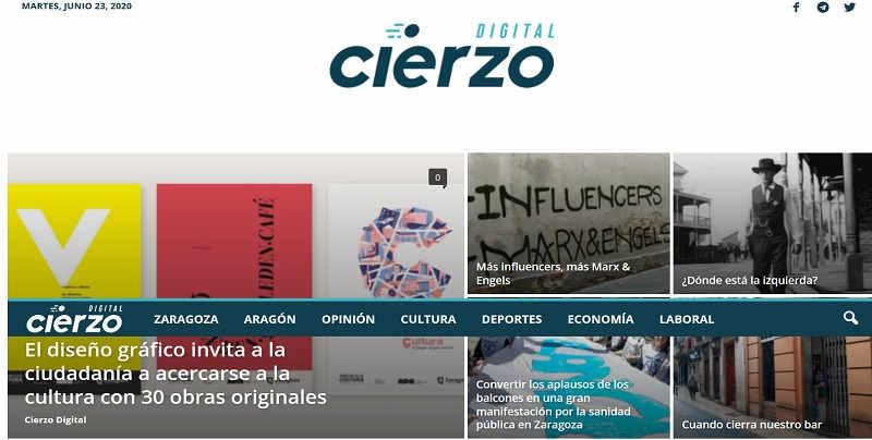Cierzodigital.es, página web hecha por la agencia de marketing en Zaragoza ComuniCrece