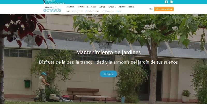 Limpiezasoctavus.es, página web hecha por la agencia de marketing en Zaragoza ComuniCrece
